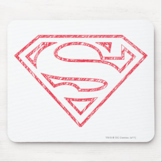 Superman S-Shield | Red Outline Logo Mouse Pad