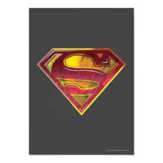 "Superman S-Shield | Reflection Logo 5"" X 7"" Invitation Card"