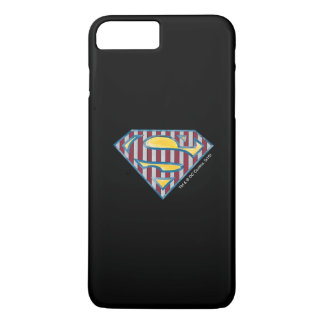 Superman S-Shield   Striped Logo iPhone 7 Plus Case