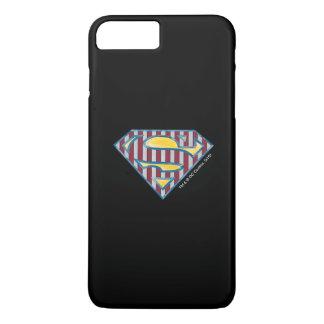 Superman S-Shield | Striped Logo iPhone 8 Plus/7 Plus Case