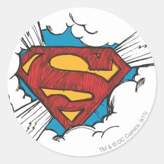 Superman S-Shield | Within Clouds Logo Round Sticker