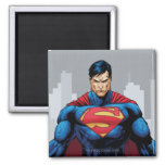 Superman Standing Square Magnet
