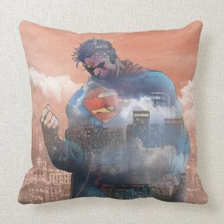 Superman Standing Throw Pillow