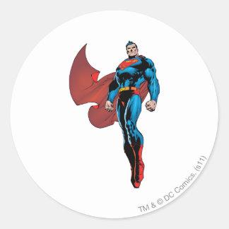 Superman Stands Tall Round Sticker
