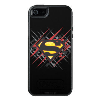 Superman Stylized | Black and Red Strikes Logo OtterBox iPhone 5/5s/SE Case