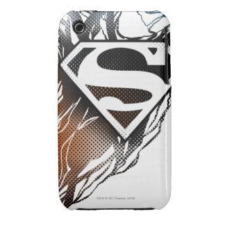 Superman Stylized   Blue OrangeLogo iPhone 3 Cases
