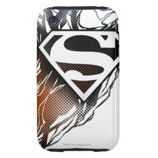 Superman Stylized   Blue OrangeLogo Tough iPhone 3 Cases