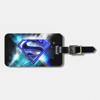 Superman Stylized | Blue White Crystal Logo Luggage Tag