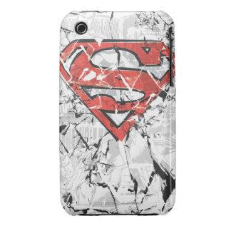 Superman Stylized   Crumpled Comic Logo iPhone 3 Cover