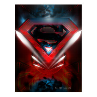 Superman Stylized | Futuristic Logo Postcard