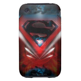 Superman Stylized   Futuristic Logo Tough iPhone 3 Cases