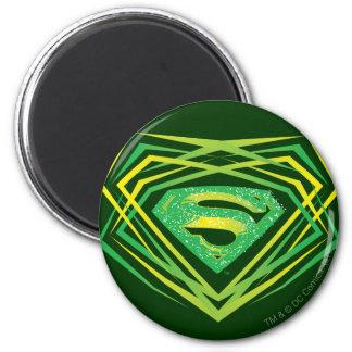 Superman Stylized   Green Decorative Logo Magnet