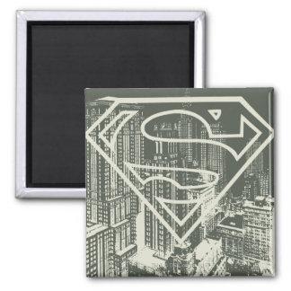 Superman Stylized   Green Metropolis Logo Magnet