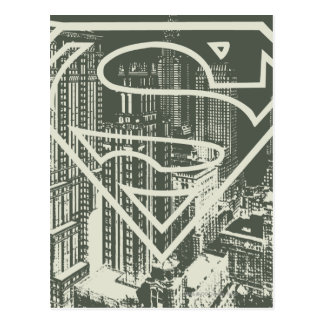 Superman Stylized | Green Metropolis Logo Postcard