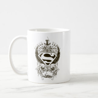 Superman Stylized | Honor, Truth and Justice Logo Classic White Coffee Mug