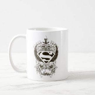 Superman Stylized   Honor, Truth and Justice Logo Coffee Mug
