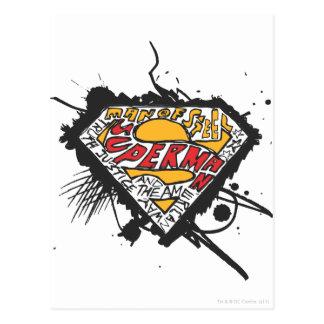 Superman Stylized | Logo with letters Logo Postcard