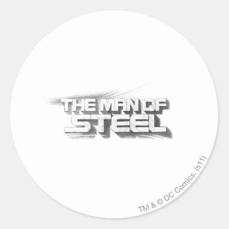Superman Stylized | Man of Steel Drawing Logo Round Sticker