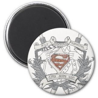 Superman Stylized | Mild Mannered Reporter Logo 2 Inch Round Magnet