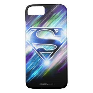 Superman Stylized | Shiny Blue Burst Logo iPhone 7 Case