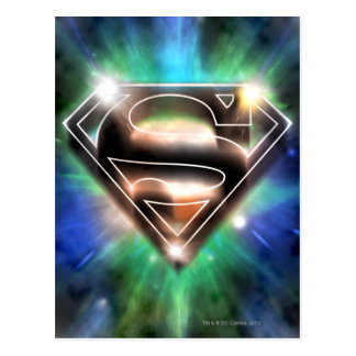 Superman Stylized | Shiny Burst Logo Postcard