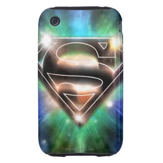 Superman Stylized | Shiny Burst Logo Tough iPhone 3 Cover