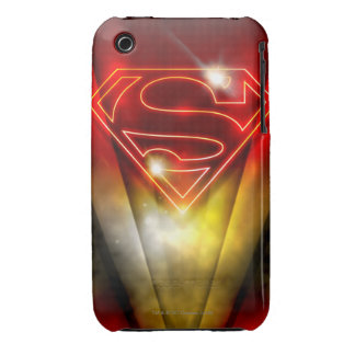 Superman Stylized | Shiny Red Outline Logo iPhone 3 Case-Mate Cases