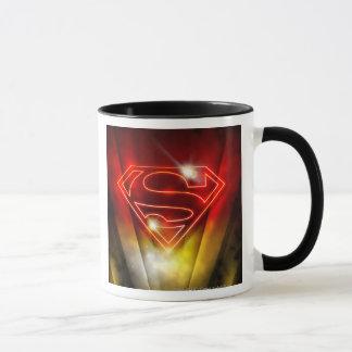 Superman Stylized | Shiny Red Outline Logo Mug