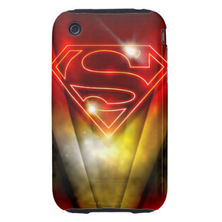 Superman Stylized | Shiny Red Outline Logo Tough iPhone 3 Case