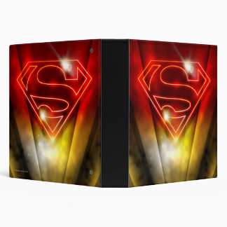 Superman Stylized | Shiny Red Outline Logo Vinyl Binders