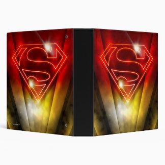 Superman Stylized   Shiny Red Outline Logo Vinyl Binders