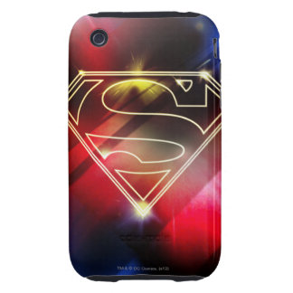 Superman Stylized | Shiny Yellow Outline Logo Tough iPhone 3 Case