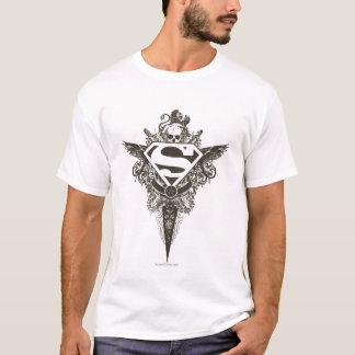 Superman Stylized | Star and Skull White Logo T-Shirt
