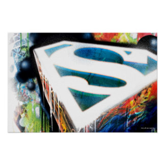 Superman Stylized | Urban Graffiti Logo Poster