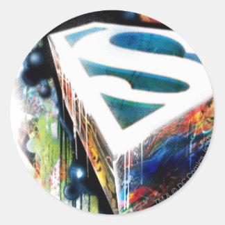 Superman Stylized | Urban Graffiti Logo Round Sticker
