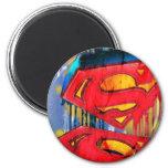 Superman Stylized | Urban Spraypaint Logo 2 Inch Round Magnet