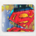 Superman Stylized | Urban Spraypaint Logo Mouse Pad