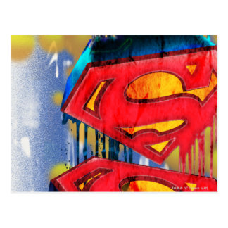 Superman Stylized | Urban Spraypaint Logo Postcard