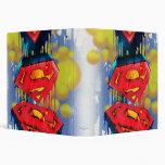 Superman Stylized | Urban Spraypaint Logo Vinyl Binder