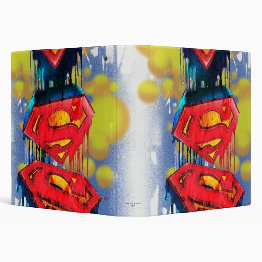 Superman Stylized | Urban Spraypaint Logo Vinyl Binder