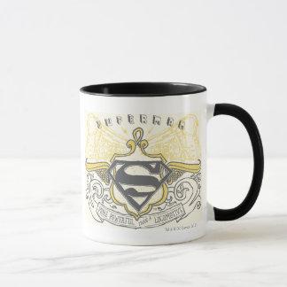 Superman Stylized   Yellow Drawn Trains Logo Mug