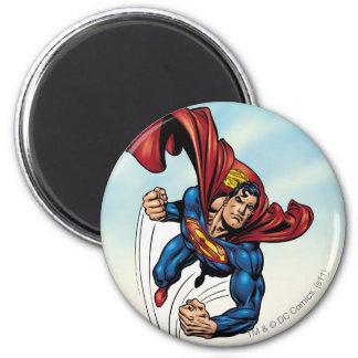 Superman swift through the air 2 inch round magnet