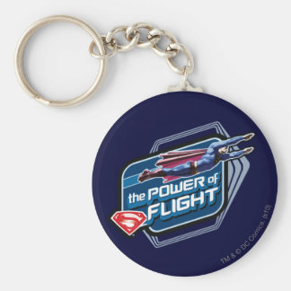 Superman The Power of Flight Basic Round Button Keychain