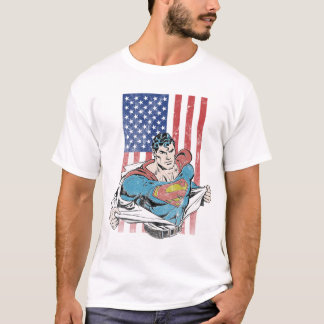 Superman & US Flag T-Shirt