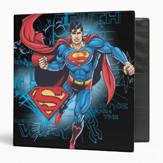 Superman with Logo Vinyl Binder