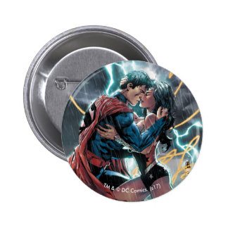 Superman/Wonder Woman Comic Promotional Art 2 Inch Round Button