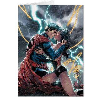 Superman/Wonder Woman Comic Promotional Art Card