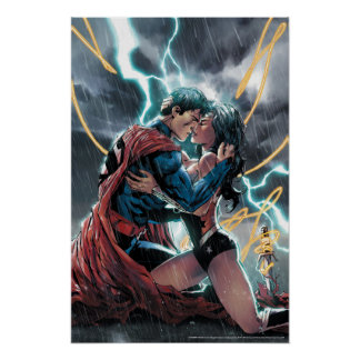 Superman/Wonder Woman Comic Promotional Art Poster