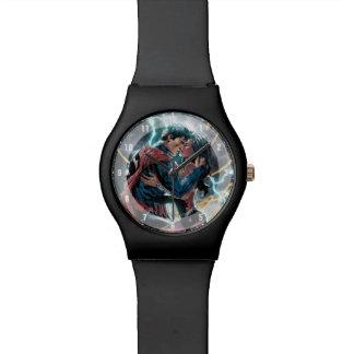 Superman/Wonder Woman Comic Promotional Art Wrist Watch