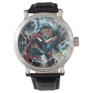 Superman/Wonder Woman Comic Promotional Art Wristwatches